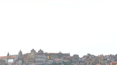 The historic buildings of Porto Stock Footage
