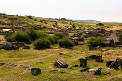 Ruins of the ancient city Hieropolis Stock Photos