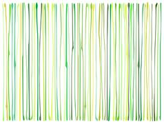 Liquid organic green yellow lines pattern over white Stock Illustration