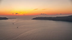 Santorini Caldera Sunset - stock footage