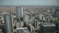 View of Milan from the top floor of a skyscraper Palazzo Lombardia - stock footage
