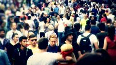 Istanbul Taksim people walk 9 Stock Footage