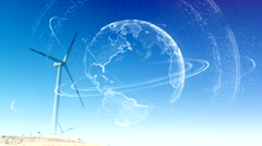 Wind power planet energy 1 Stock Footage