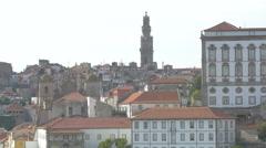 The Clerigos Church of Porto Stock Footage