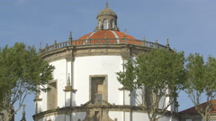 The dome of the Monastery of Serra do Pilar in Porto Stock Footage