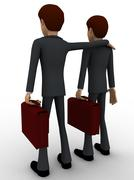 3d man with business partner concept Stock Illustration