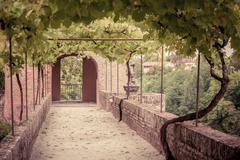 Palais de la Berbie Gardens Alley at Albi, Tarn, France Stock Photos