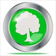 Oak Tree Button Stock Illustration