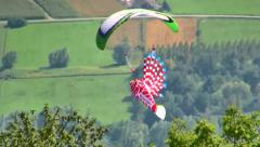 Coupe Icare, French Alps, Paragliding, France Stock Footage