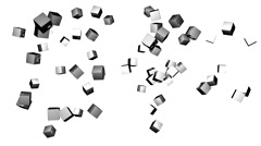 Rotating silver dice Stock Footage