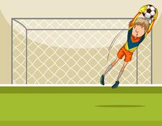 Goal keeper - stock illustration