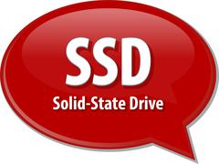 Stock Illustration of SSD acronym definition speech bubble illustration