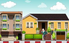 Neighborhood Stock Illustration