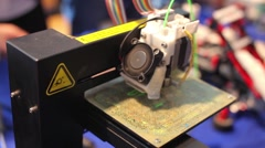 3D - Three dimensional printing machine Stock Footage