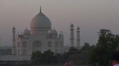 The Taj Mahal  Agra at sunset in India Stock Footage