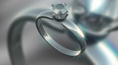 A Seamless looping Silver and Diamond ring HD clip 25fps - stock footage
