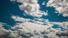 Timelapse blue sky moving clouds Stock Footage
