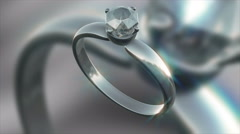A Seamless looping Silver and Diamond ring HD clip4K 30fps - stock footage