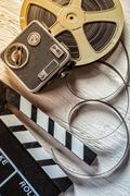 Stock Photo of Retro film accessories