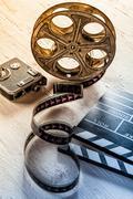 Retro film accessories - stock photo