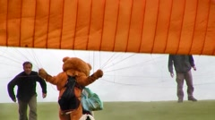 Coupe Icare Costumed Paraglider, France - stock footage
