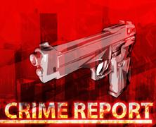 Crime Report Abstract concept digital illustration Stock Illustration