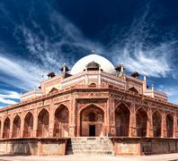 Humayun's Tomb. Delhi, India. UNESCO World Heritage Site - stock photo