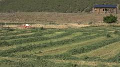 Agriculture grain field cut harvest rural farm pan 4K Stock Footage