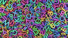 Alphabet letters colors Stock Illustration