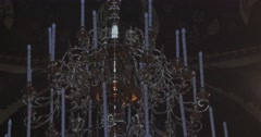 Chandelier Sermon on The Mount Painted Fresco Church of St. Anthony Theodosius - stock footage