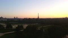 Aerial view on Paris Stock Footage