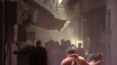 Alley of the Holy festival Stock Footage