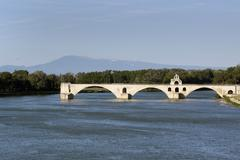 Stock Photo of bridge in avignon france mont ventoux