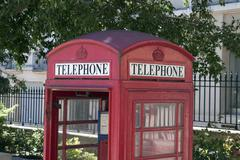 Detail of an british phone booth - stock photo