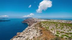 Santorini Caldera - stock footage