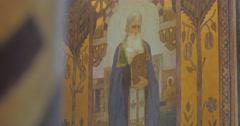 Stock Video Footage of Rev Archimandrite Prokhor of Kievo-Pechersk Lavra Church of St Anthony and