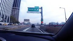 Hyperlapse driving through New York City - stock footage