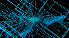 Fly between laser lines Stock Footage