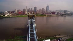 CINCINNATI SKYLINE_AERIAL_2 Stock Footage