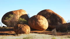 Round devils marbles Stock Footage