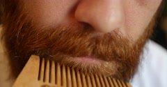 Beard comb - stock footage