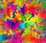 Stock Illustration of Splattered paint. Abstract background resembling wet splattered paint pattern.