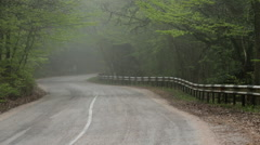 Stock Video Footage of Fog on an Empty Rural Road