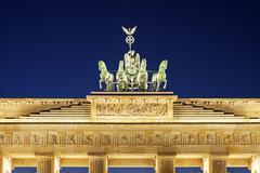 Stock Photo of Statue on top of Brandenburg Gate
