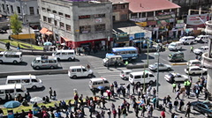 La Paz, Bolivia Intersection - stock footage