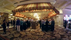 Passage through the casino. Bellagio hotel & casino. Las Vegas Stock Footage