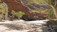 Ormiston gorge and a dry finke river Stock Footage