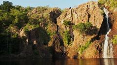 Wangi waterfalls litchfield national park pan Stock Footage