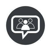Round group leader dialog icon - stock illustration