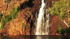 Wangi waterfalls close up Stock Footage